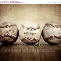CYBER WEEK SALE Vintage Baseballs Little Slugger and Ball 16x20 print