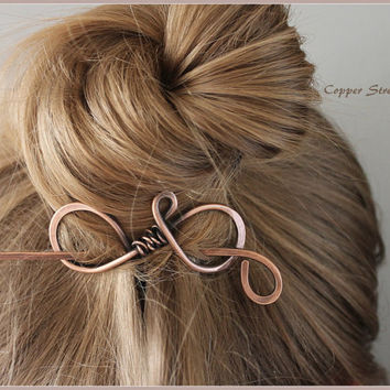 Hair Stick, Hair Clip, Hair Barrette, Hair Accessories, Plain, Hair Pin, Small, Medium, Large, Hair Slide, Wire Wrapped, Copper, Hair Grip