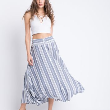 Vertical Striped Skirt