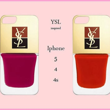Iphone 5/4/4s Case-YSL Iphone 5 Case-Ysl Iphone Cover-YSL-Nail Polish Case-Fashion Cover-Iphone 5 case,Iphone 4/4s case,Iphone 5 cover,dior