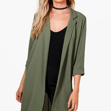 Anna Collared Tailored Duster | Boohoo