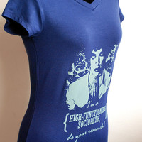 HERLOCK bbc I'm a HIGH-FUNCTIONING sociopath,do your research Ver.2 on womens size spandex stretch t shirt short sleeve