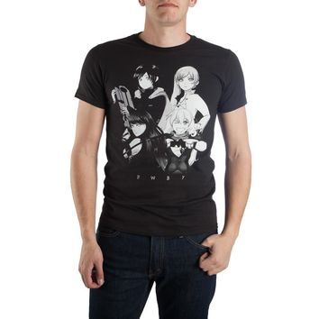RWBY Ruby Character Anime Men's Black T-Shirt Tee Shirt