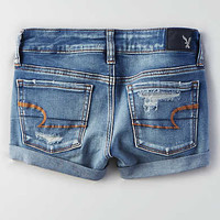AEO Denim X Super Low Shortie , Blown Out Blue