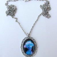 Galaxy Girl 28x38mm Pendant Necklace 30 Chain by KristaRaeArt