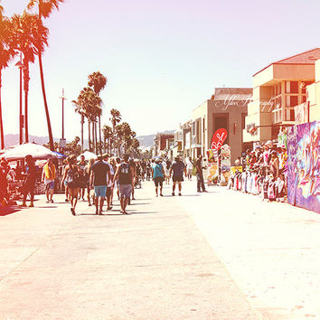 Venice Beach Boardwalk Photography Los Angeles California West Coast SoCal surfside Summer Palm Trees
