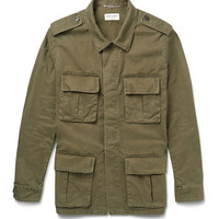 Saint Laurent - Cotton and Linen-Blend Field Jacket | MR PORTER