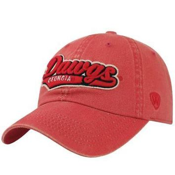 Georgia Bulldogs Hat UGA Adjustable NCAA Distressed Park Cap