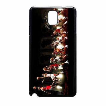 CREYUG7 Michael Jordan NBA Chicago Bulls Dunk Samsung Galaxy Note 3 Case