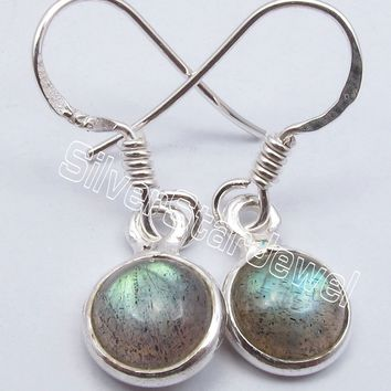 Chanti International Solid Silver BLUE FIRE LABRADORITE INEXPENSIVE New Earrings 2.7 CM JEWELLERS