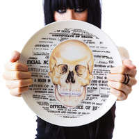 Sourpuss Clothing Skull Plate White One