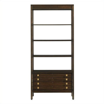 Crestaire-Welton Bookcase in Porter
