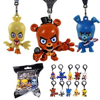 Good Quality 10 Pcs  5  With Freddie Five Night At Freddy Game Bear Foxy Bonnie Chica Mangle Figures Toy for Boys