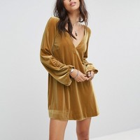 Free People Velvet Mini Dress at asos.com
