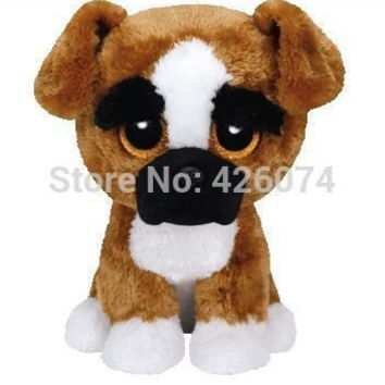 New Original TY Beanie Boos Big Eyed Stuffed Animals Brutus Boxer Dog Plush Toys For Children Gifts Kids Toys 15CM