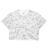 White marble Ladies Crop Top