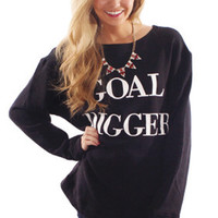 Goal Digger Relaxed Knit Pullover