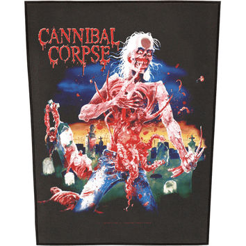 Cannibal Corpse Men's Eaten Back To Life Back Patch Black