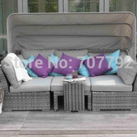 Quality assured outdoor furniture rattan corner sofa bed