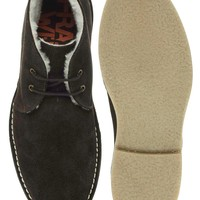 Frank Wright Suede Shearling Desert Boots
