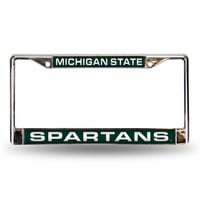 Michigan State Spartans NCAA Laser Chrome Frame