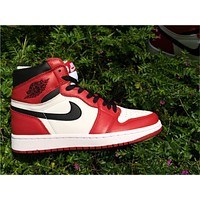 Air Jordan 1 Retro Red/Black Shoes 36-47