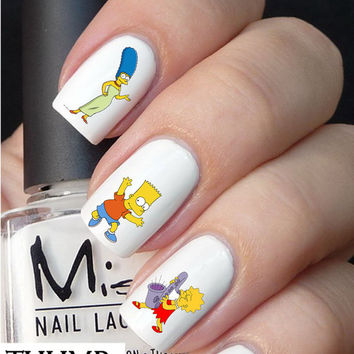 The simpsons nail decals nail decal nail art nail sticker