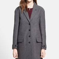 Burberry Brit 'Camford' Single Breasted Wool Blend Coat