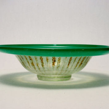 WMF Ikora Art Glass Bowl from the 1930s era In perfect condition Modern Art Deco Germany