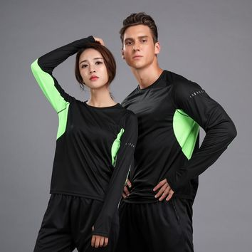Women/Men fitness Sport Loose Shirt Long Sleeve Quick Dry breathable Running T-shirt Gym jogging Workout Outdoor Clothing S-3XL