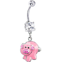 Pinky Pig Belly Ring | Body Candy Body Jewelry