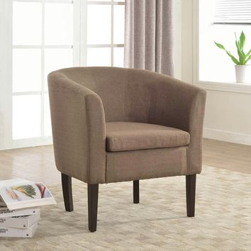 New Century® Simon Linon Sofa Club Chair Linen, Brown