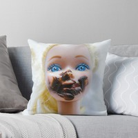 'Chica chocoholica' Throw Pillow by vfphoto