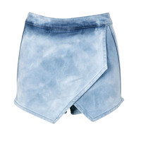 Alexa Light Blue Wash Denim Skort