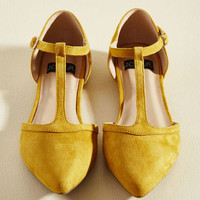 Turn Back Prime Vegan Flat in Marigold