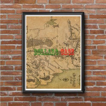 Lord Of The Rings Map Photo Poster 16x20 18x24