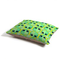 Chobopop Sad Alien And Daisy Pattern Pet Bed