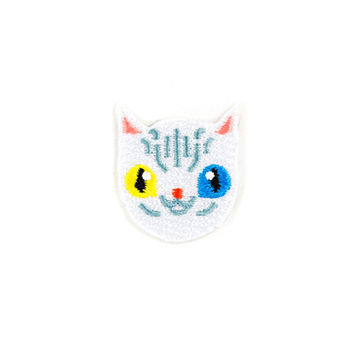 White Cat Mini Sticker Patch