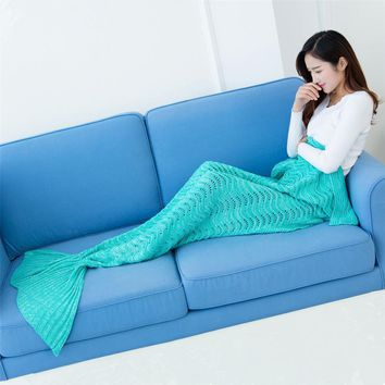 Christmas giftKeep warm wintet protection Mermaid tail Sleep Bottoms Leisure  textile Handcrafted knitting personality reading w