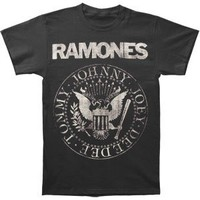 Ramones Distressed Seal Mens Tee L
