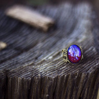 Dragons Breath Opal Ring  by YouNaturally on Etsy
