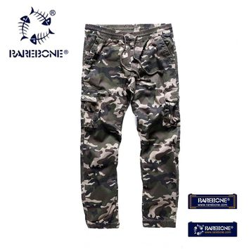 Rarebone 100% cotton Soft Shell Outdoors Tactical Military Camouflage Pants Men Army Waterproof Thermal Camo Hunt Hike Pants