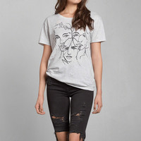 Portrait Embroidered Graphic Tee