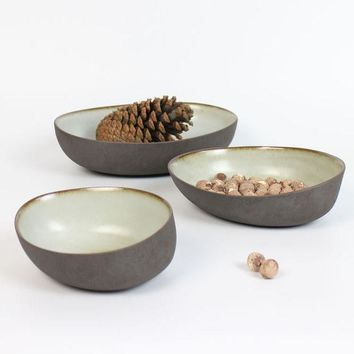 New A Plate Set Warm Stone Fruit Plate Special Ceramic Dish Tableware Three Piece A Set Purple Pottery From Jingde Town