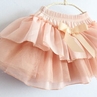 12m24m2T3T4T5T6T toddler girl wedding party dress PINK pleated skirt Baby dress spring summer tutu skirt