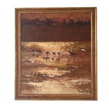 Pre-owned Ritter African Savannah Oil Painting