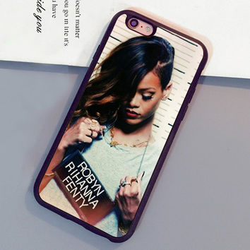 Robyn Rihanna Fenty Printed Soft Rubber Skin Mobile Phone Cases OEM For iPhone 6 6S Plus 7 7 Plus 5 5S 5C SE 4S Back Cover
