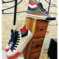 Chevron High Cut Sneakers