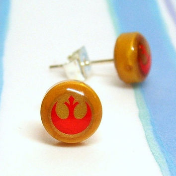 Star Wars Alliance Starbird Earrings made from Lego Pieces