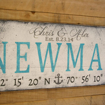 Wedding Sign Pallet Sign Beach Wedding Shabby Chic Wedding Destination Wedding Personalized Wedding Sign  Nautical Wedding Coordinates